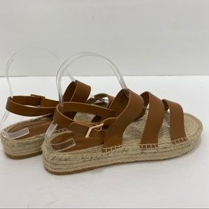 Forever 21 Brown Strappy Espadrilles Sandals